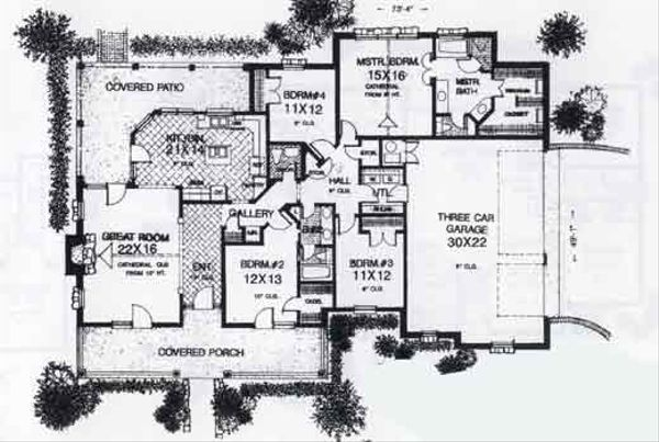 Colonial Floor Plan - Main Floor Plan #310-803