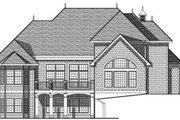 European Style House Plan - 4 Beds 3.5 Baths 3697 Sq/Ft Plan #70-637 Exterior - Rear Elevation