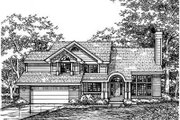 Traditional Style House Plan - 4 Beds 3 Baths 2623 Sq/Ft Plan #50-158 Exterior - Front Elevation