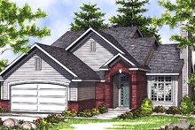 Dream House Plan - Traditional Exterior - Front Elevation Plan #70-112