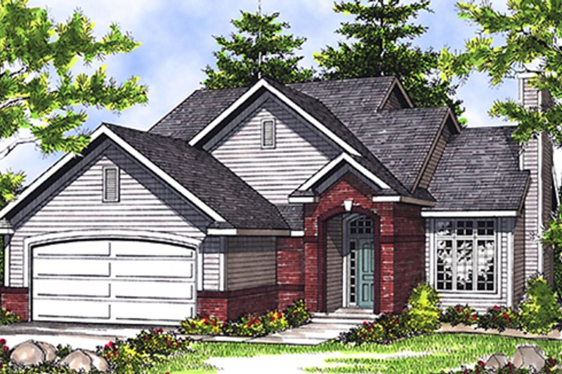 Home Plan - Traditional Exterior - Front Elevation Plan #70-112