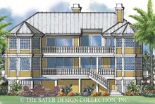 House Plan Design - Mediterranean Exterior - Rear Elevation Plan #930-32