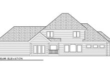 Dream House Plan - European Exterior - Rear Elevation Plan #70-997