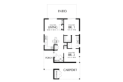 Contemporary Style House Plan - 2 Beds 1 Baths 780 Sq/Ft Plan #48-685 Floor Plan - Main Floor Plan