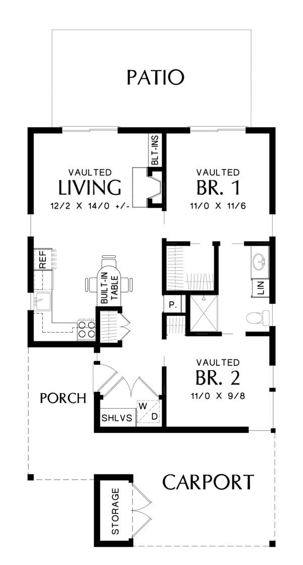 Contemporary Floor Plan - Main Floor Plan Plan #48-685