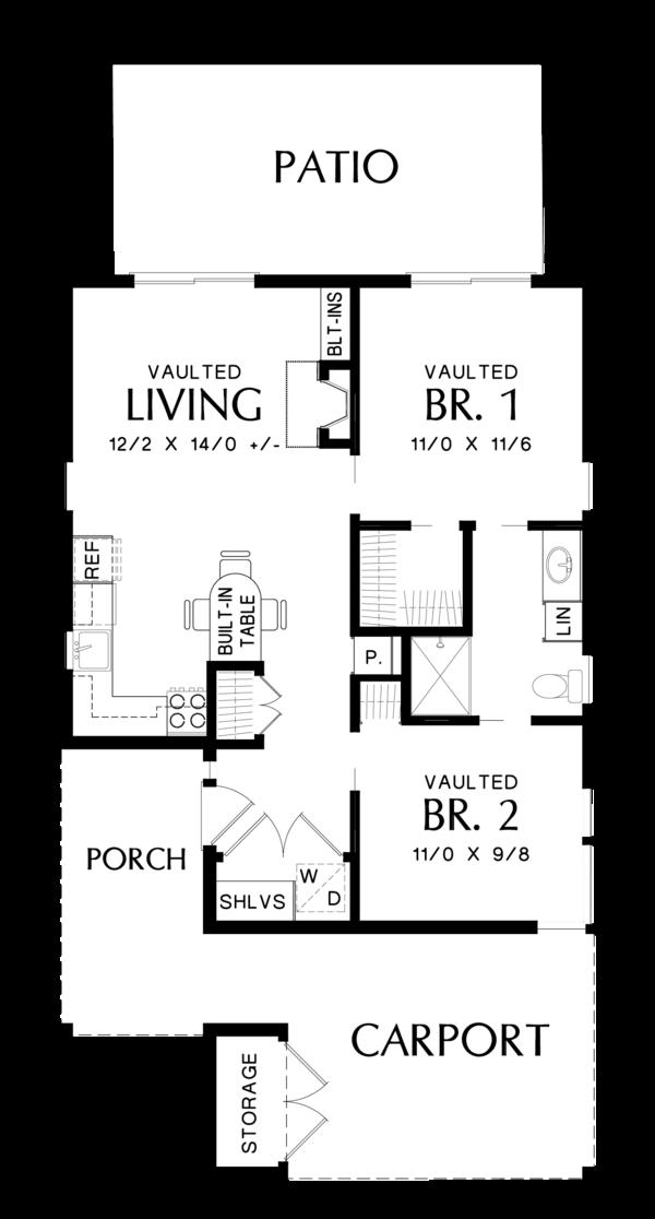 Contemporary Floor Plan - Main Floor Plan #48-685