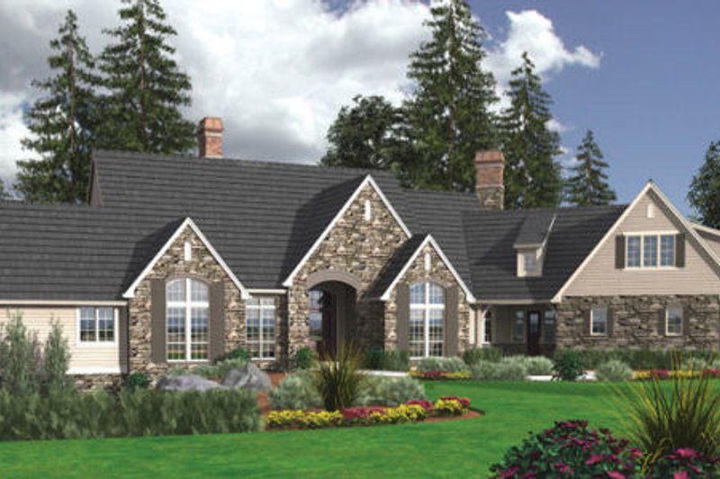 Architectural House Design - European Exterior - Front Elevation Plan #48-362