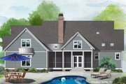Cottage Style House Plan - 3 Beds 2.5 Baths 1996 Sq/Ft Plan #929-1102 Exterior - Rear Elevation