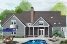 Cottage Exterior - Rear Elevation Plan #929-1102