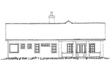 Home Plan - Cottage Exterior - Rear Elevation Plan #942-42
