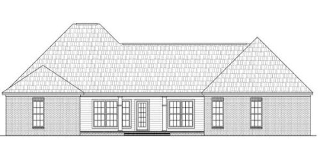 Traditional style house plan 4 beds 2 5 baths 2100 sq ft for Tk homes floor plans
