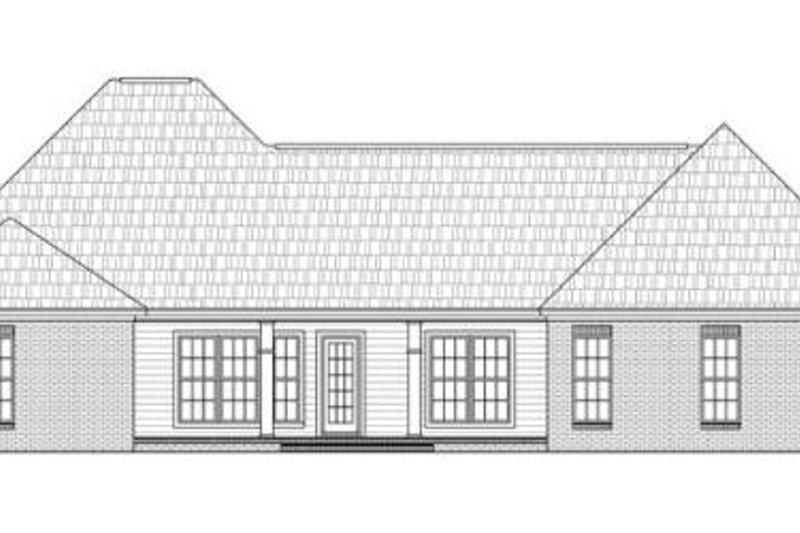 Traditional Exterior - Rear Elevation Plan #21-272 - Houseplans.com