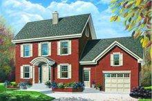 House Plan Design - European Exterior - Front Elevation Plan #23-568