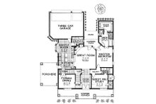 Colonial Floor Plan - Main Floor Plan Plan #310-704