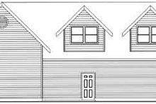 House Plan Design - Traditional Exterior - Rear Elevation Plan #117-482
