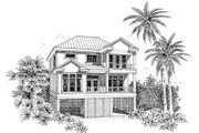 Beach Style House Plan - 3 Beds 3 Baths 1743 Sq/Ft Plan #37-150