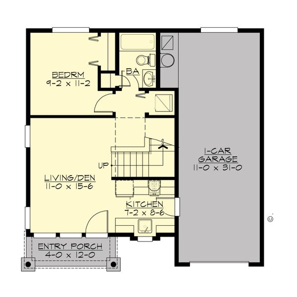 Traditional Floor Plan - Main Floor Plan #132-220