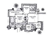 Traditional Style House Plan - 3 Beds 2.5 Baths 2113 Sq/Ft Plan #310-930 Floor Plan - Main Floor