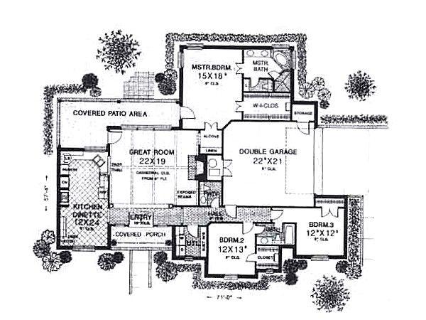Traditional Floor Plan - Main Floor Plan #310-930
