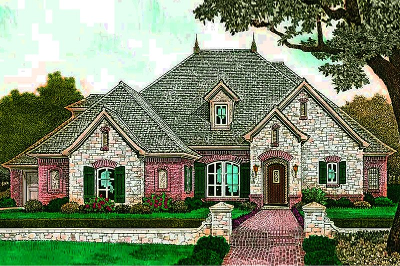 European Exterior - Front Elevation Plan #310-1292