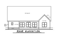 Craftsman Exterior - Rear Elevation Plan #20-2281