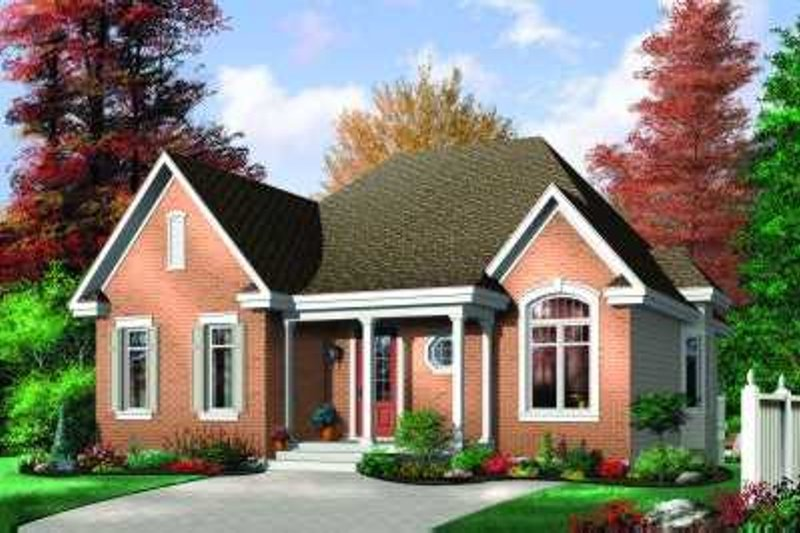 European Exterior - Front Elevation Plan #23-323 - Houseplans.com