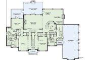 European Style House Plan - 4 Beds 4.5 Baths 6571 Sq/Ft Plan #17-2427 Floor Plan - Main Floor Plan