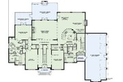 European Style House Plan - 4 Beds 4.5 Baths 6571 Sq/Ft Plan #17-2427 Floor Plan - Main Floor