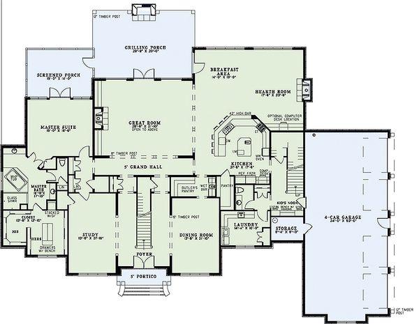 European Floor Plan - Main Floor Plan Plan #17-2427