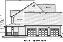 Home Plan - Right Elevation - Plan 21-269