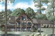 Craftsman Style House Plan - 3 Beds 4 Baths 6636 Sq/Ft Plan #17-2500 Exterior - Rear Elevation