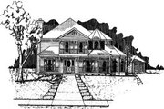Victorian Style House Plan - 3 Beds 2.5 Baths 2384 Sq/Ft Plan #37-196 Exterior - Front Elevation