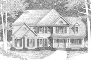 Traditional Style House Plan - 4 Beds 4 Baths 2494 Sq/Ft Plan #129-119 Exterior - Front Elevation