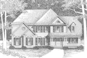 House Plan Design - Traditional Exterior - Front Elevation Plan #129-119