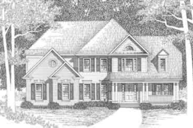 Traditional Exterior - Front Elevation Plan #129-119 - Houseplans.com