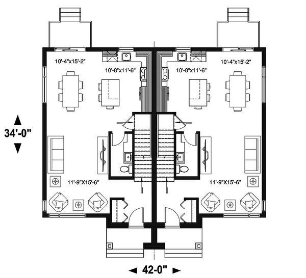 Home Plan - Modern Floor Plan - Main Floor Plan #23-2639