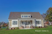 Country Style House Plan - 3 Beds 3.5 Baths 2515 Sq/Ft Plan #929-682 Exterior - Rear Elevation