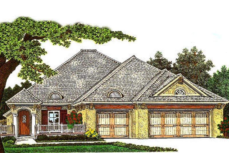 European Exterior - Front Elevation Plan #310-982