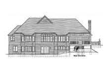 Architectural House Design - Craftsman Exterior - Rear Elevation Plan #46-114