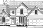 Traditional Style House Plan - 4 Beds 2 Baths 2398 Sq/Ft Plan #67-814 Exterior - Front Elevation