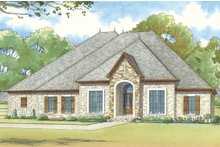 House Plan Design - European Exterior - Front Elevation Plan #923-18