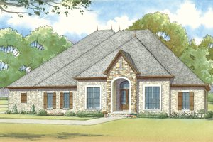 European Exterior - Front Elevation Plan #923-18