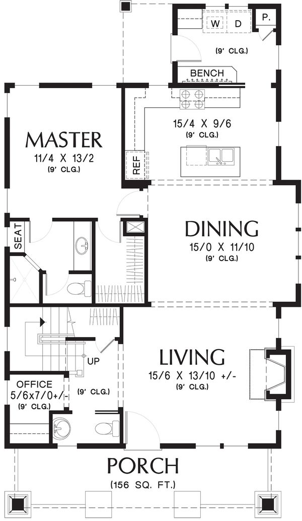 Bungalow Floor Plan - Main Floor Plan Plan #48-646