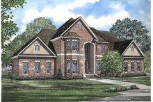 House Plan Design - European Exterior - Front Elevation Plan #17-2075