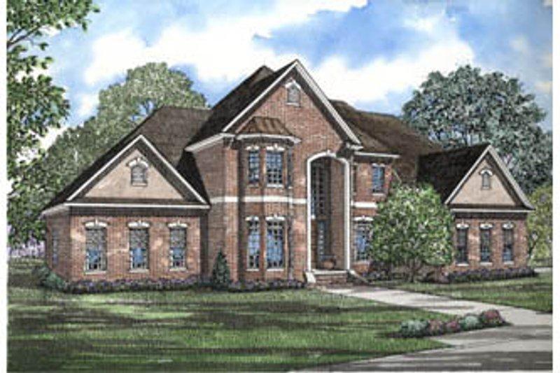 Architectural House Design - European Exterior - Front Elevation Plan #17-2075