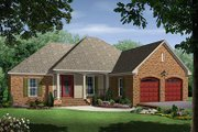 European Style House Plan - 4 Beds 3 Baths 1750 Sq/Ft Plan #21-214 Exterior - Front Elevation
