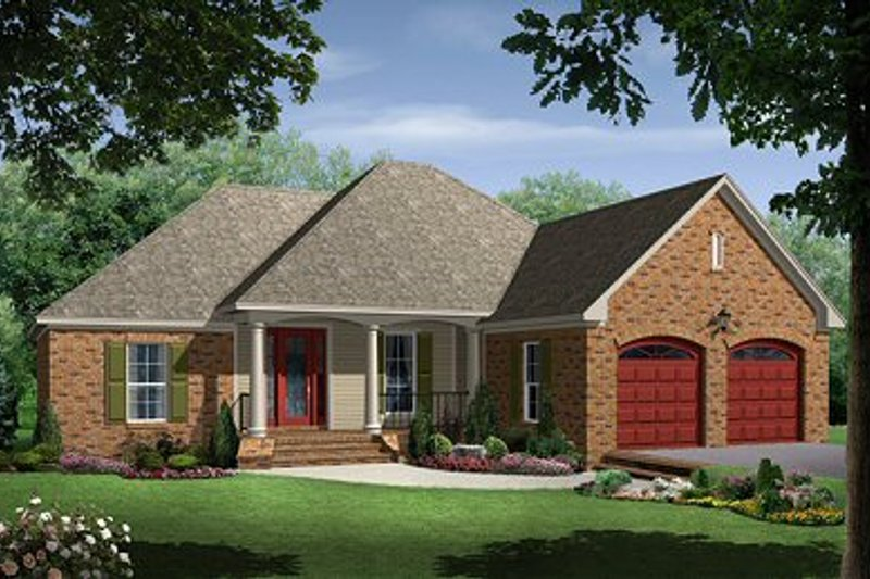 Architectural House Design - European Exterior - Front Elevation Plan #21-214