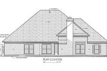 Southern Exterior - Rear Elevation Plan #45-237