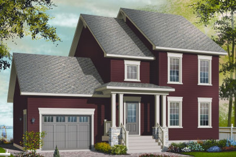 Country Exterior - Front Elevation Plan #23-2265