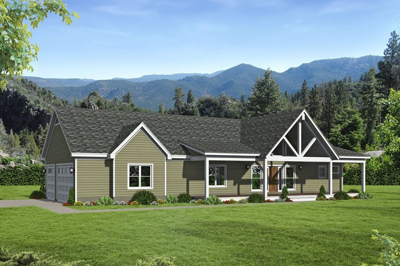 Architectural House Design - Traditional Exterior - Front Elevation Plan #932-408